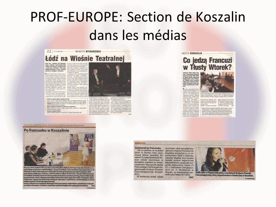 PROF-EUROPE: Section de Koszalin dans les médias