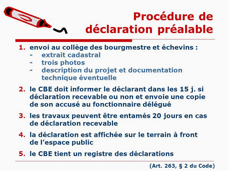 Procédure de déclaration préalable