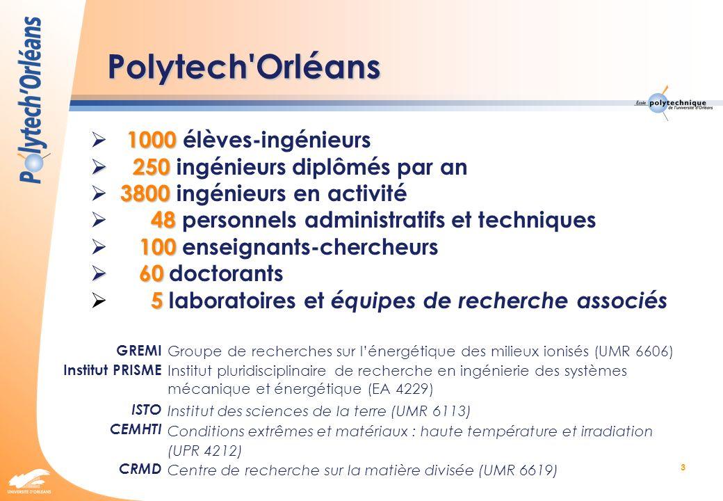 Polytech Orléans  1000 élèves-ingénieurs