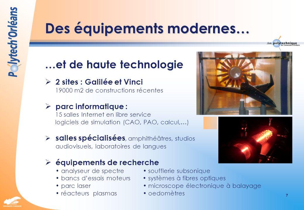 Des équipements modernes…