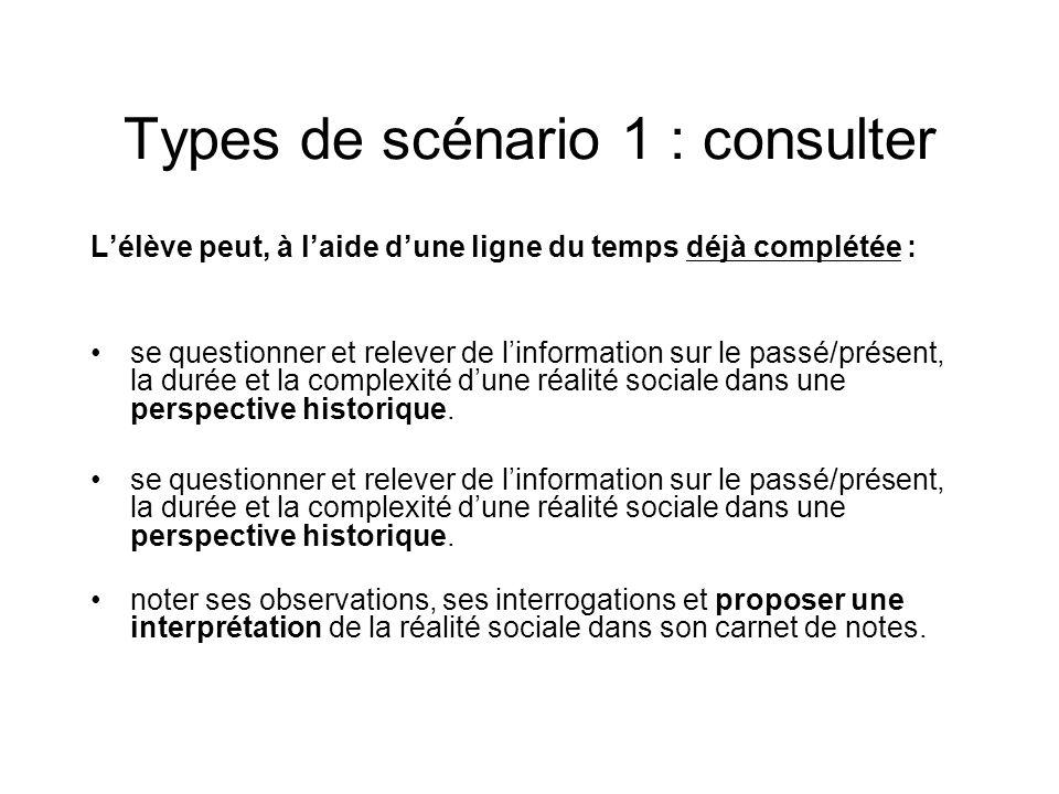 Types de scénario 1 : consulter