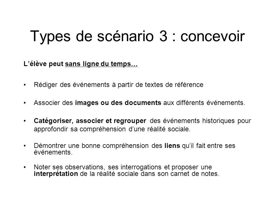 Types de scénario 3 : concevoir