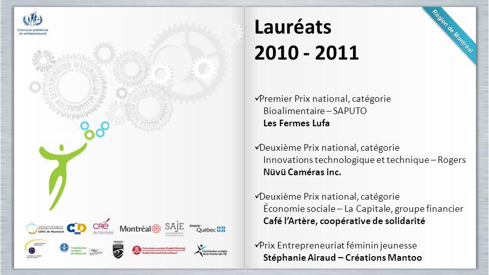 Lauréats 2010 - 2011 Premier Prix national, catégorie