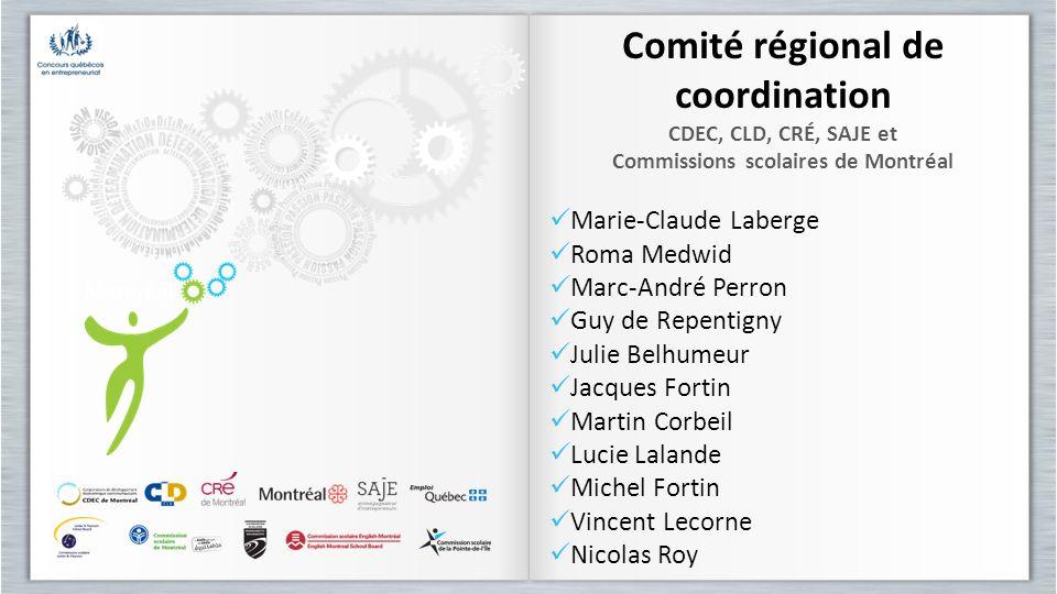 Comité régional de coordination Commissions scolaires de Montréal