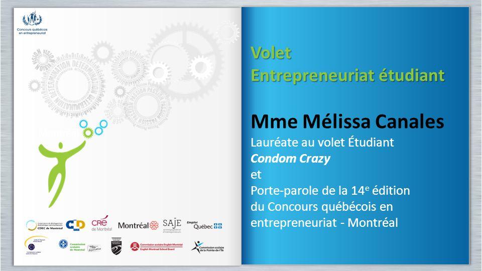 Mme Mélissa Canales Volet Entrepreneuriat étudiant