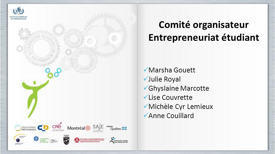 Comité organisateur Entrepreneuriat étudiant