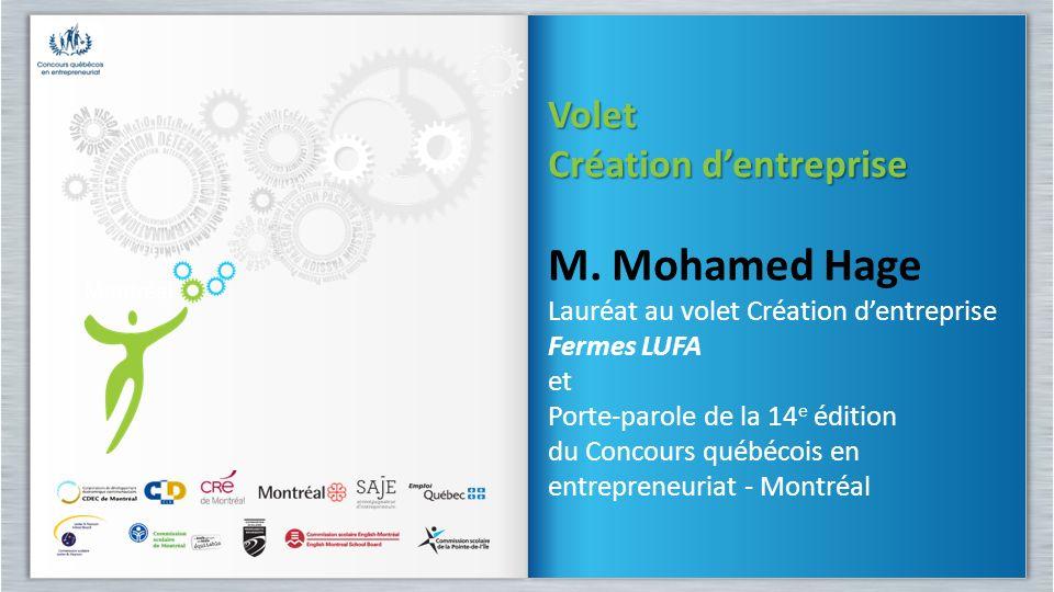 M. Mohamed Hage Volet Création d'entreprise