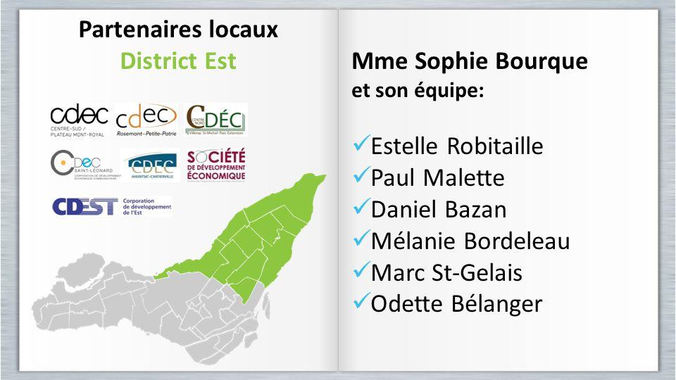 Partenaires locaux District Est