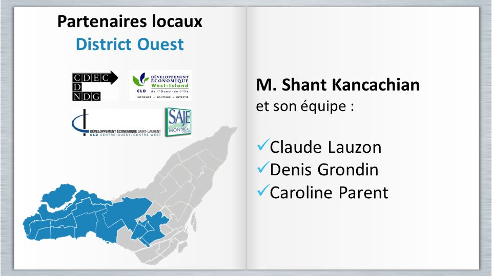 Partenaires locaux District Ouest
