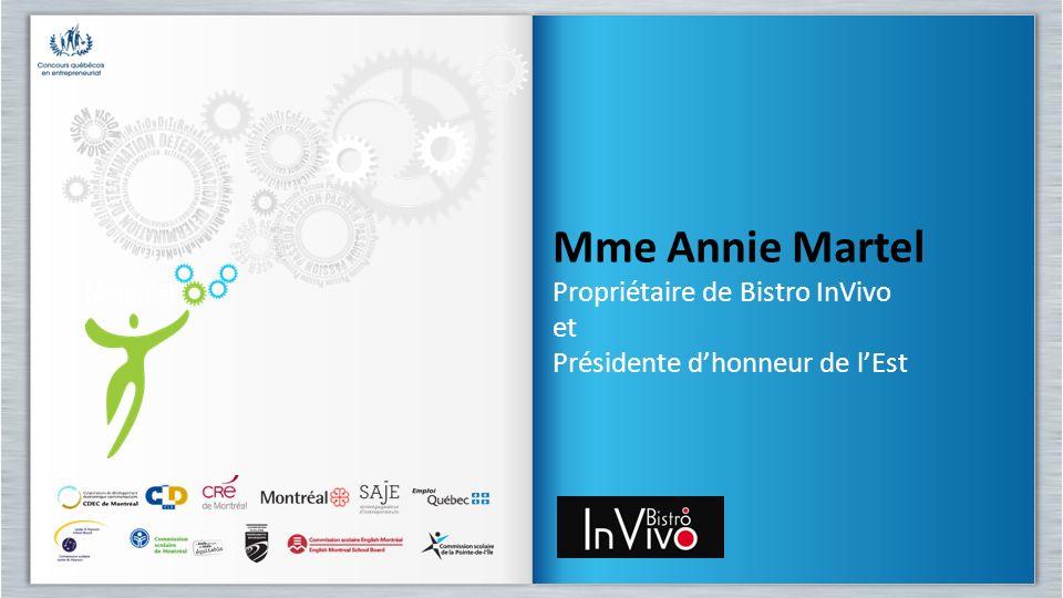 Mme Annie Martel Propriétaire de Bistro InVivo et