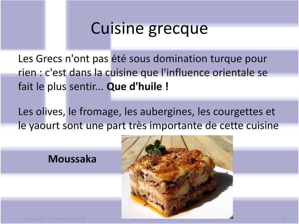 Bonjour ppt t l charger for Cuisine grecque