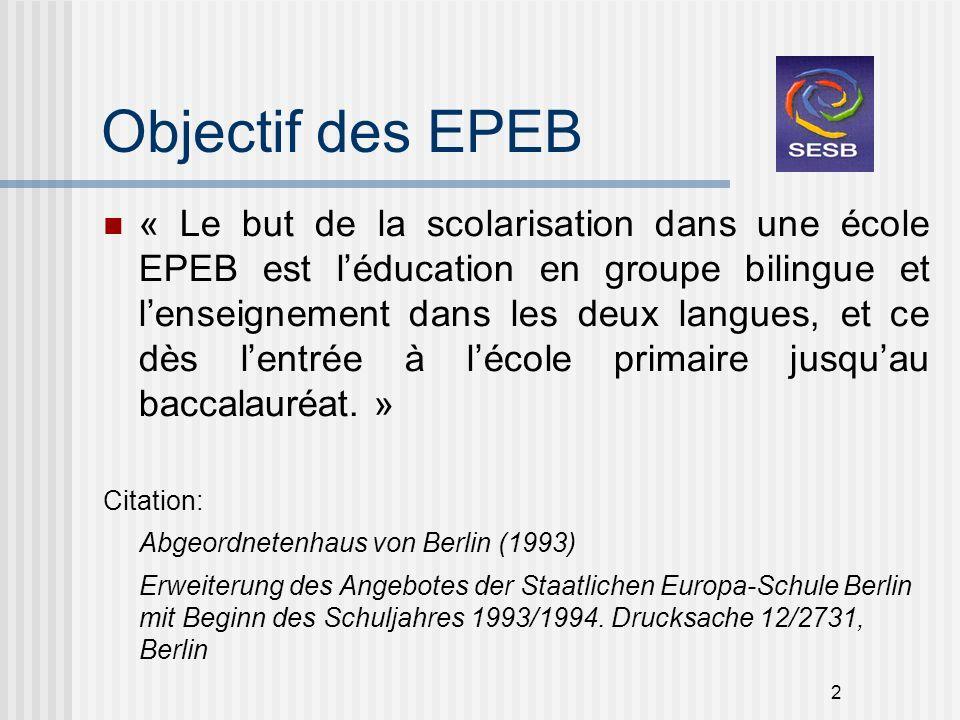 Objectif des EPEB