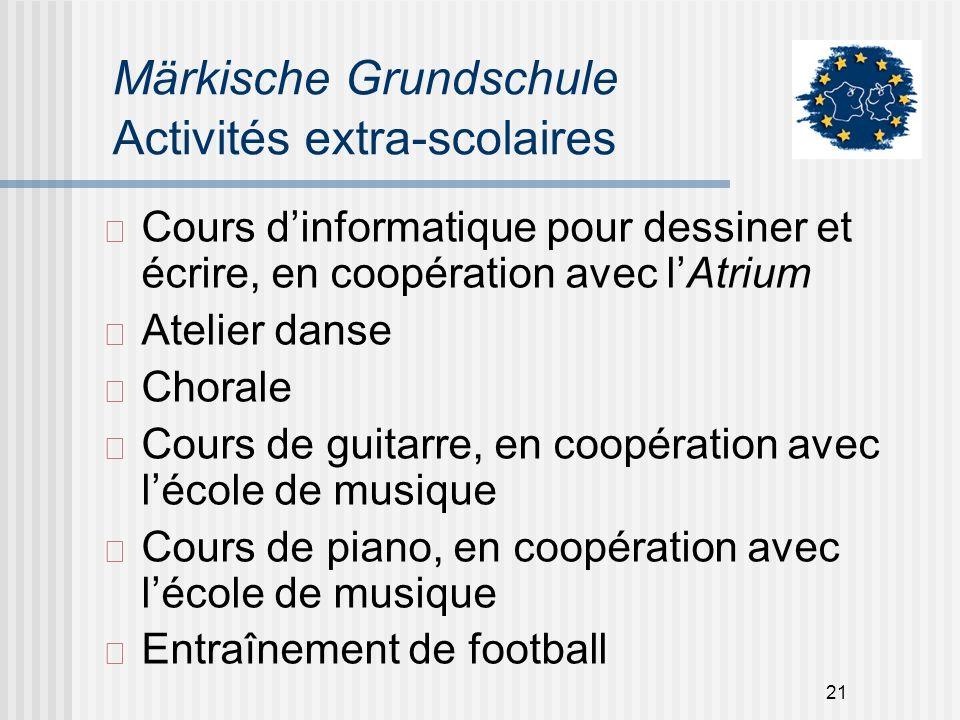 Märkische Grundschule Activités extra-scolaires