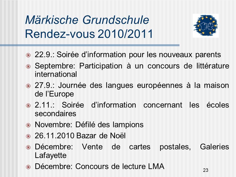 Märkische Grundschule Rendez-vous 2010/2011