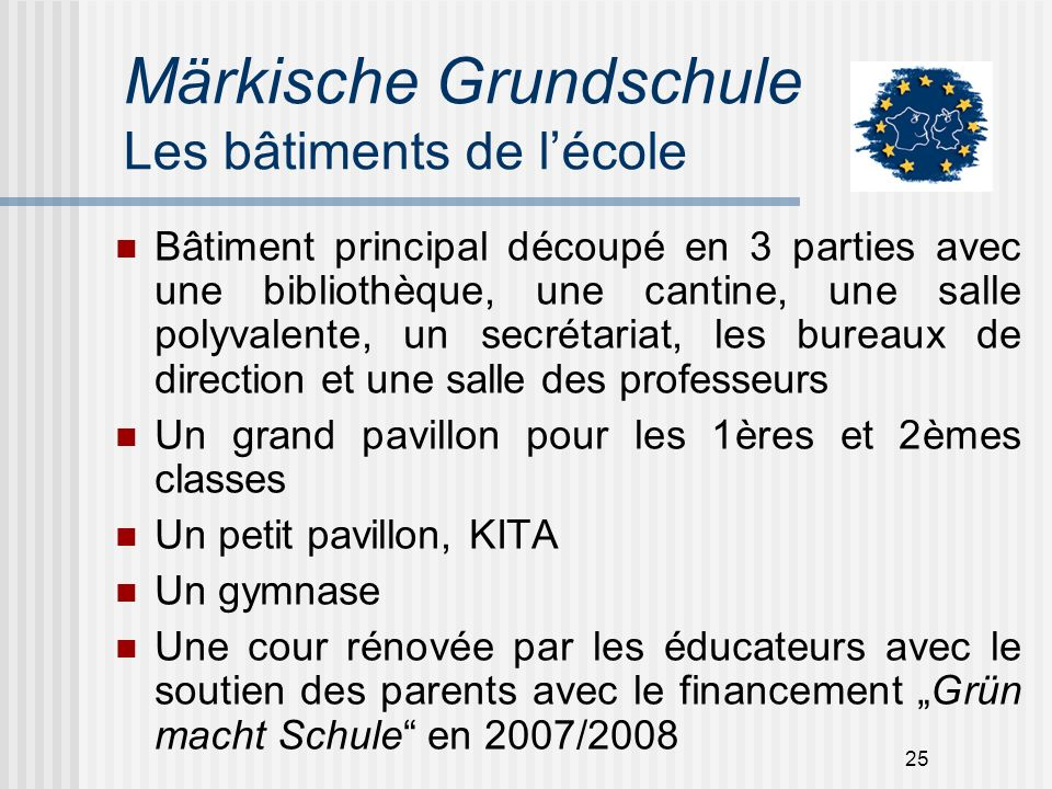 Märkische Grundschule Les bâtiments de l'école