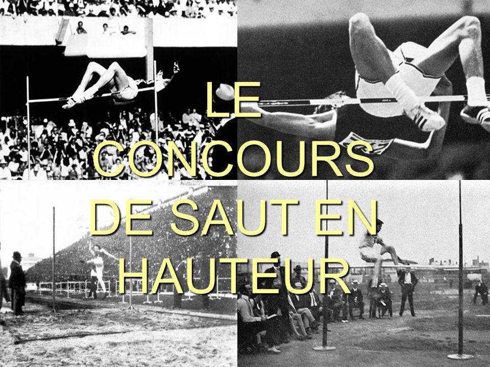 LE CONCOURS DE SAUT EN HAUTEUR