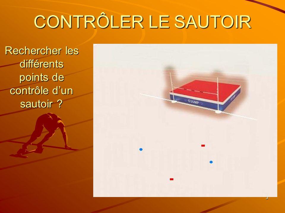 Rechercher les différents points de contrôle d'un sautoir