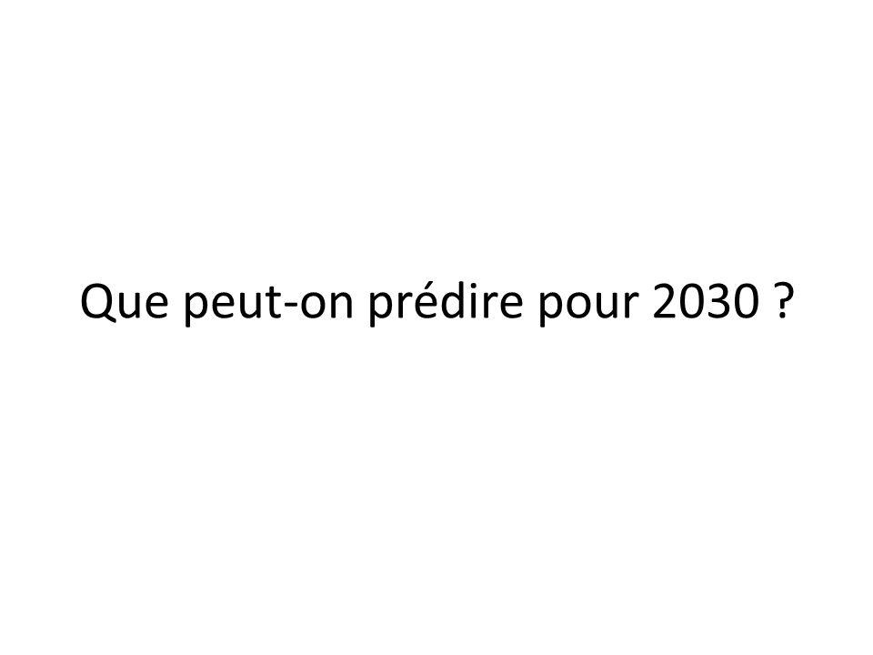 Que peut-on prédire pour 2030
