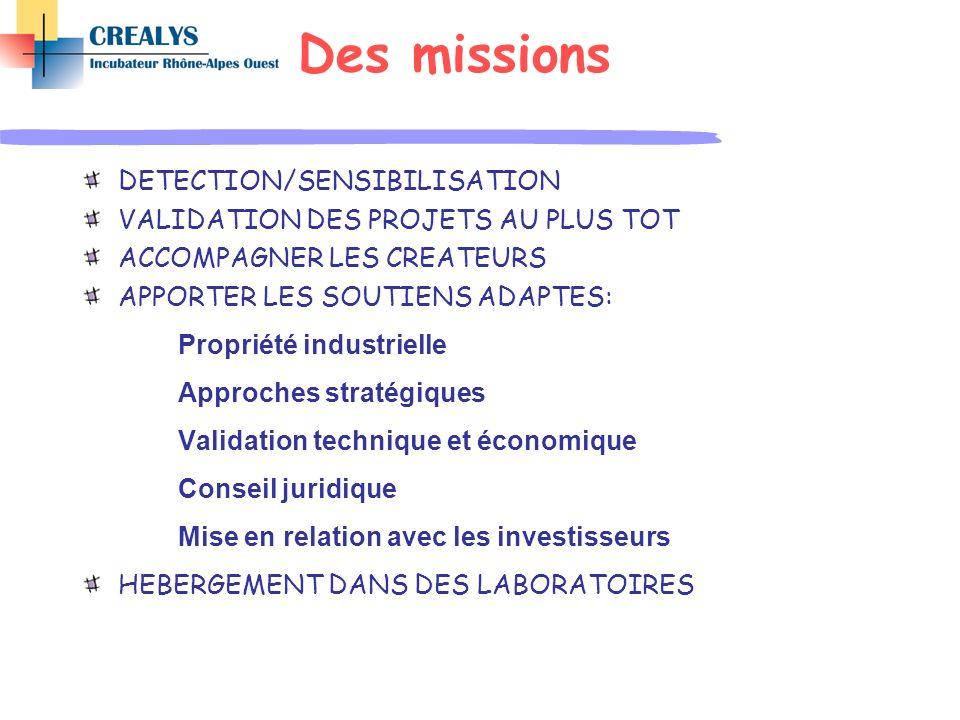 Des missions DETECTION/SENSIBILISATION