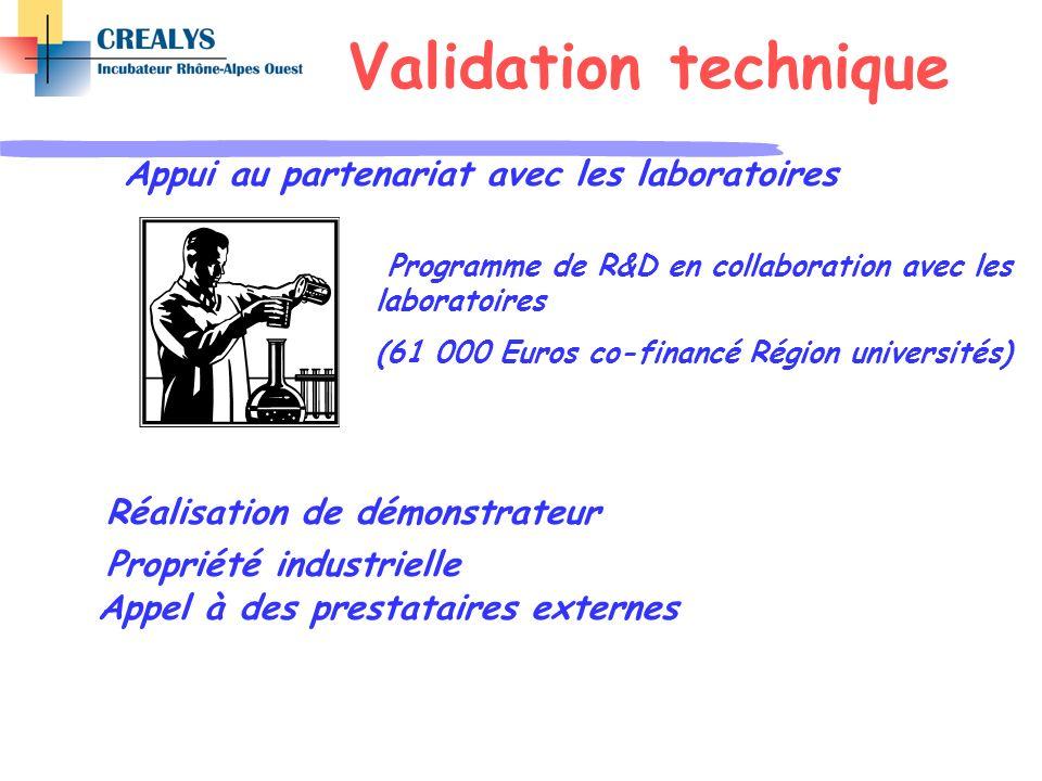 Validation technique Appui au partenariat avec les laboratoires