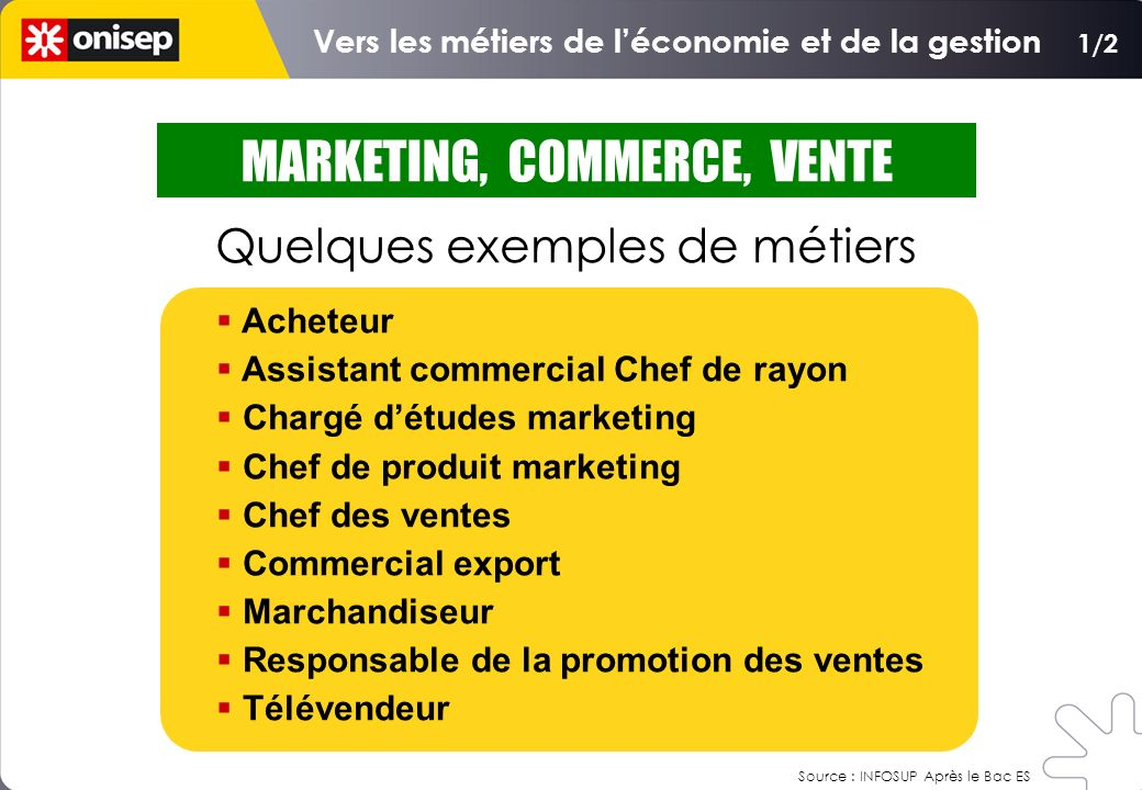 MARKETING, COMMERCE, VENTE