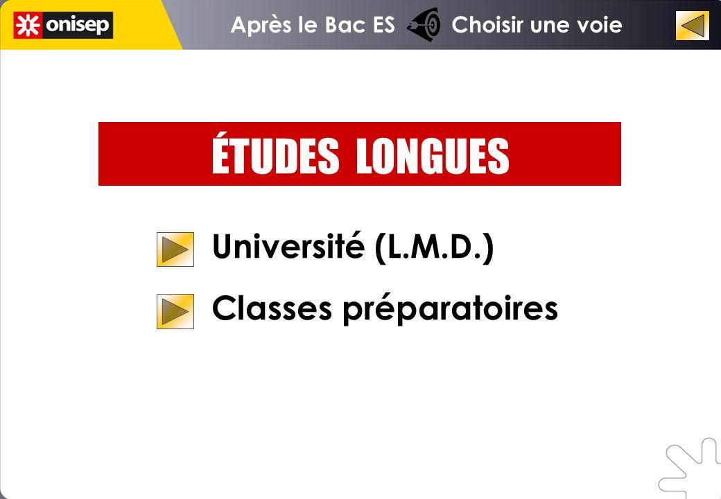 ÉTUDES LONGUES Université (L.M.D.) Classes préparatoires