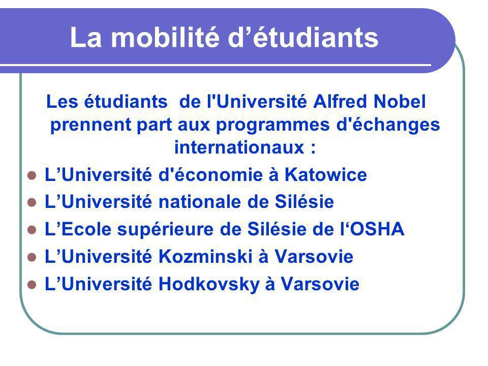 La mobilité d'étudiants