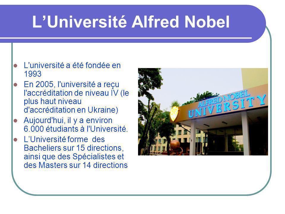 L'Université Alfred Nobel
