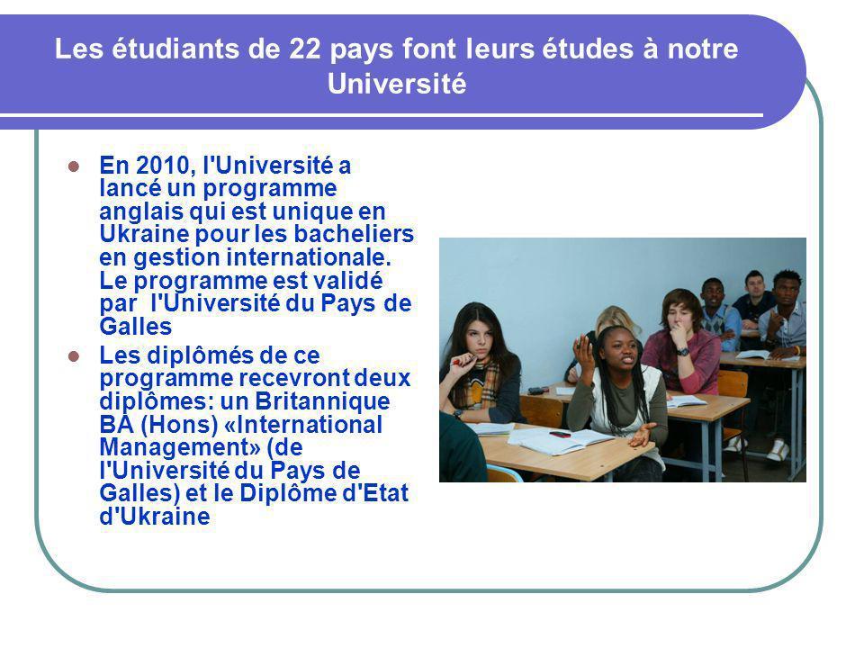 Les étudiants de 22 pays font leurs études à notre Université