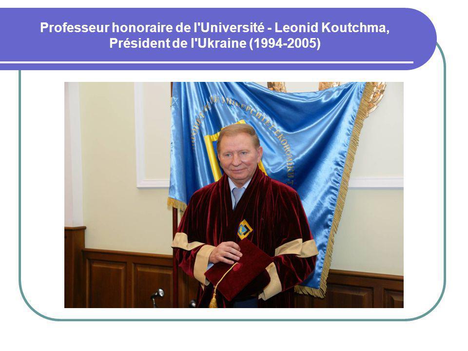 Professeur honoraire de l Université - Leonid Koutchma, Président de l Ukraine (1994-2005)