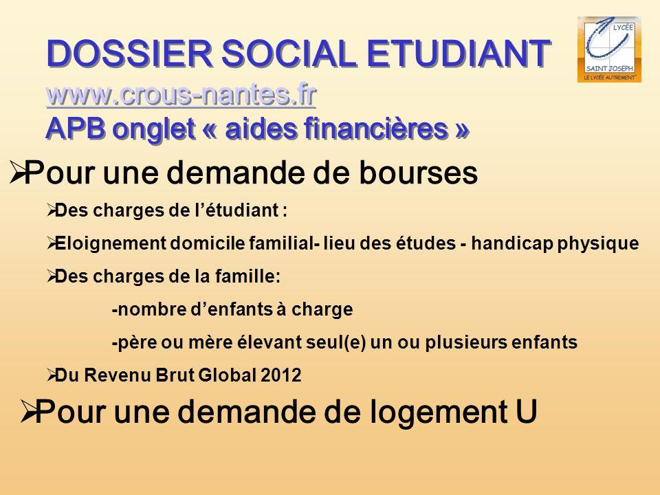 DOSSIER SOCIAL ETUDIANT www.crous-nantes.fr