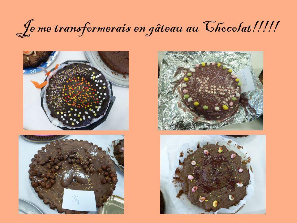 Je me transformerais en gâteau au Chocolat!!!!!