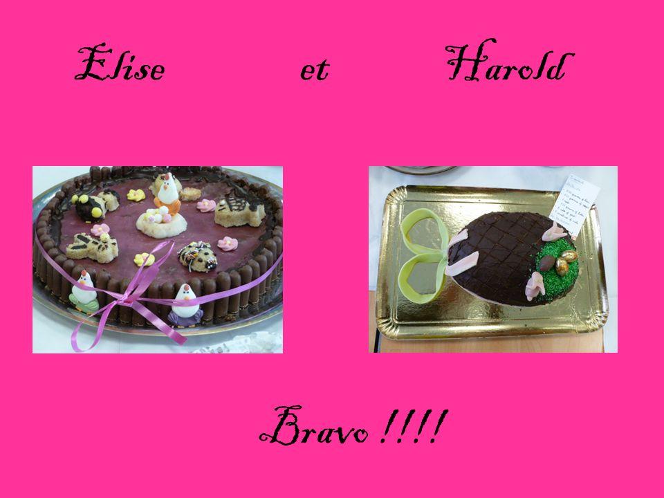 Elise et Harold Bravo !!!!