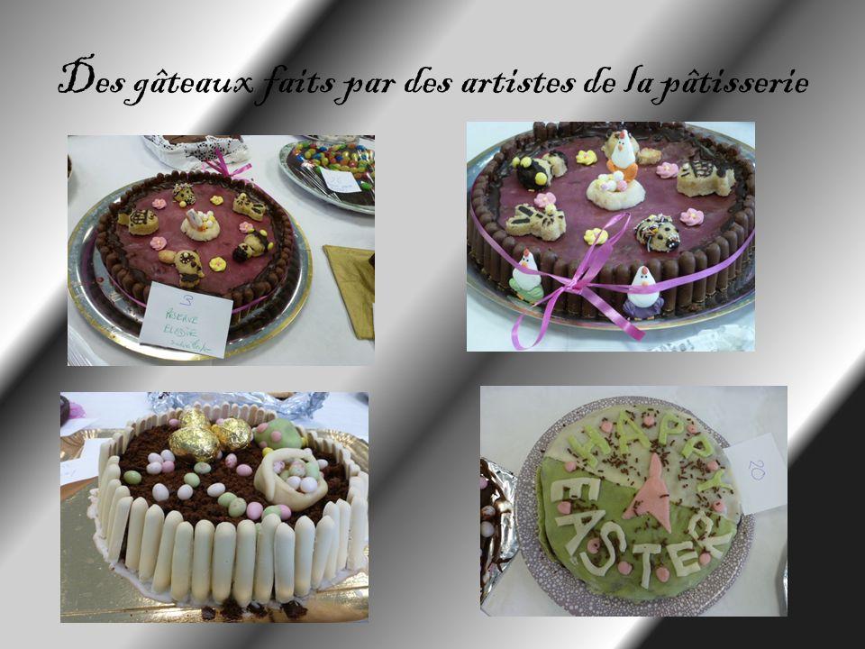 Des gâteaux faits par des artistes de la pâtisserie