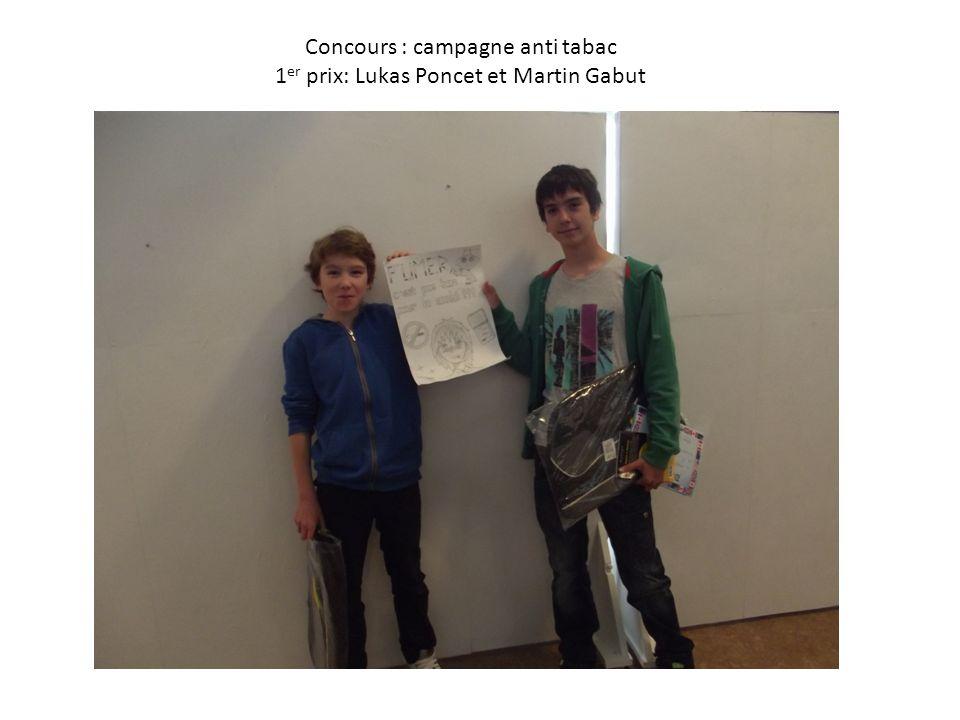 Concours : campagne anti tabac 1er prix: Lukas Poncet et Martin Gabut
