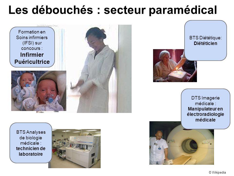 Les débouchés : secteur paramédical