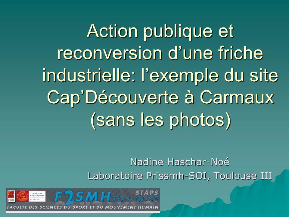Nadine Haschar-Noé Laboratoire Prissmh-SOI, Toulouse III