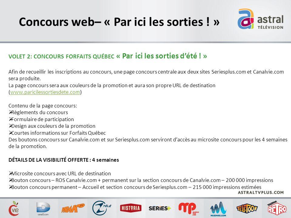Concours web– « Par ici les sorties ! »