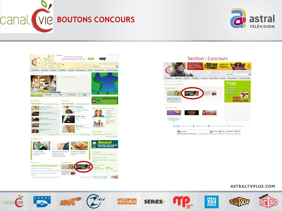 BOUTONS CONCOURS Section : Concours