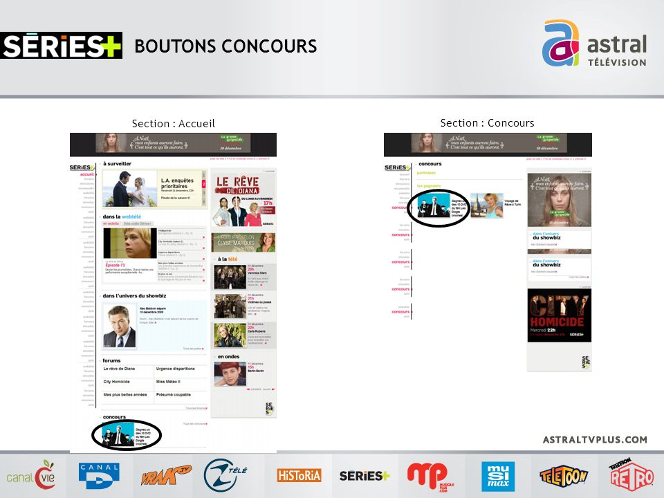 BOUTONS CONCOURS Section : Accueil Section : Concours