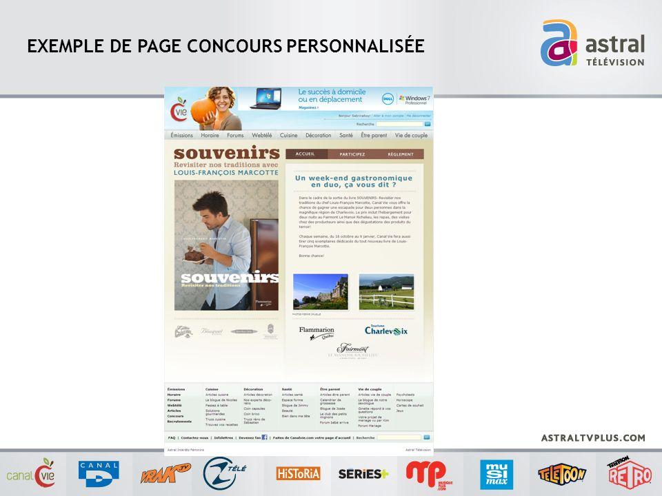 EXEMPLE DE PAGE CONCOURS PERSONNALISÉE