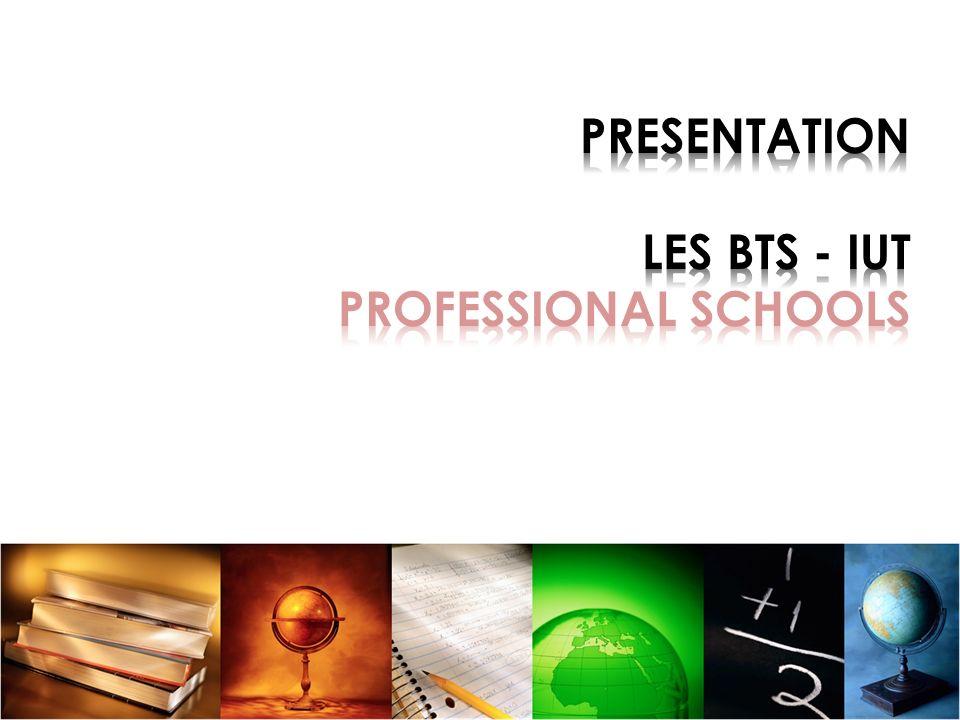 PRESENTATION LES BTS - IUT PROFESSIONAL SCHOOLS