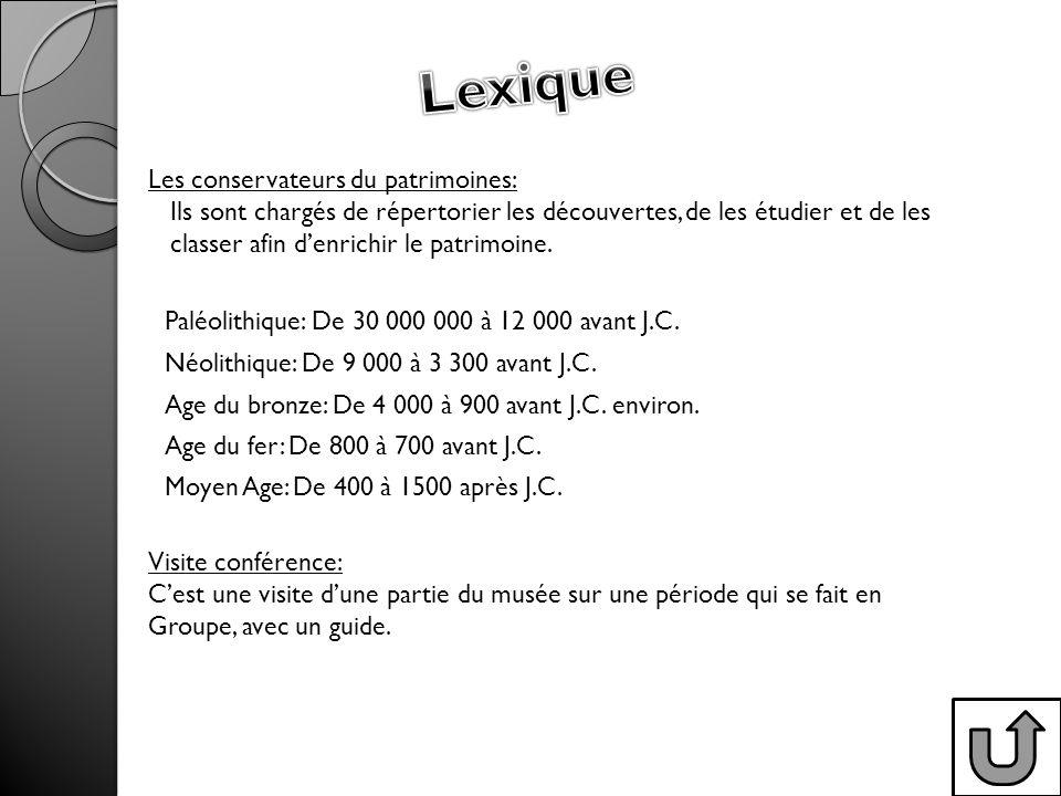 Lexique Les conservateurs du patrimoines:
