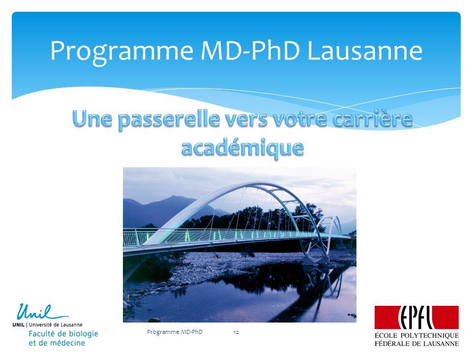 Programme MD-PhD Lausanne