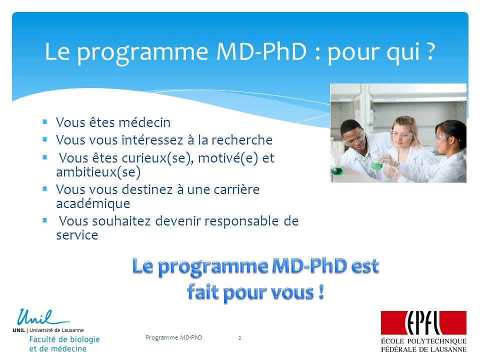 Le programme MD-PhD : pour qui