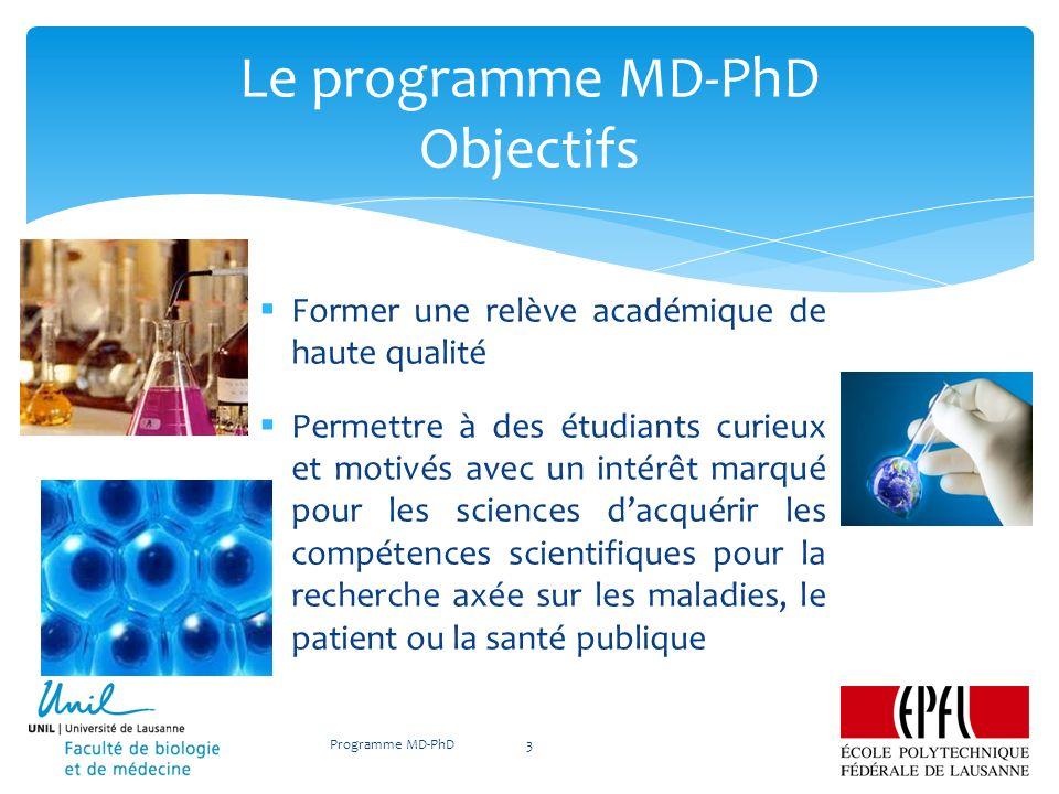 Le programme MD-PhD Objectifs