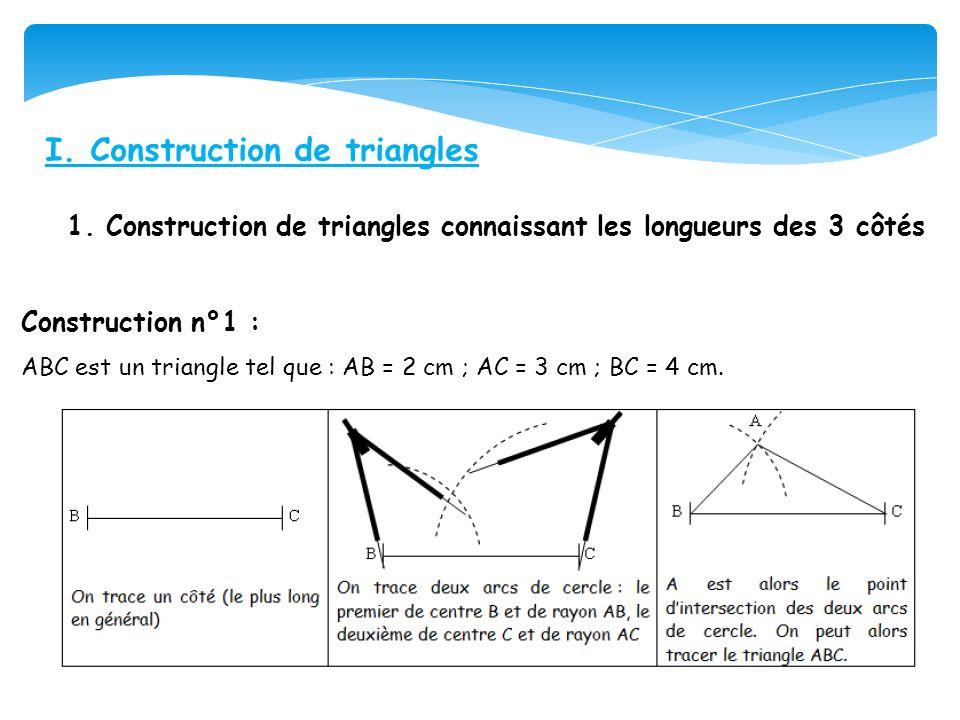 I. Construction de triangles