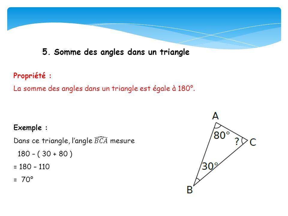 5. Somme des angles dans un triangle