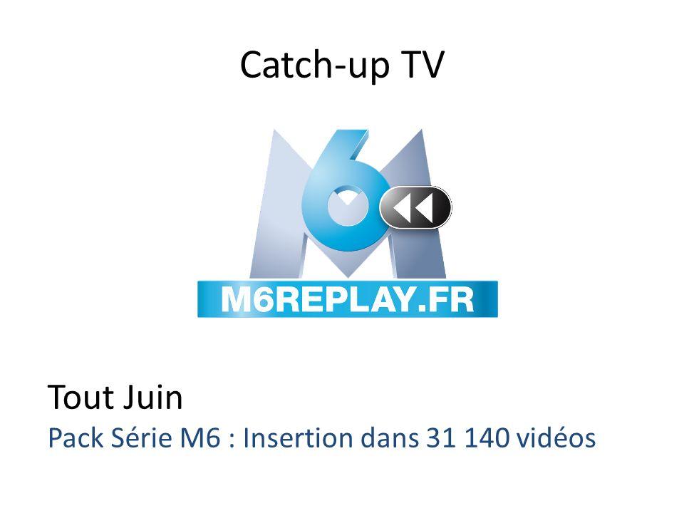 Catch-up TV Tout Juin Pack Série M6 : Insertion dans 31 140 vidéos