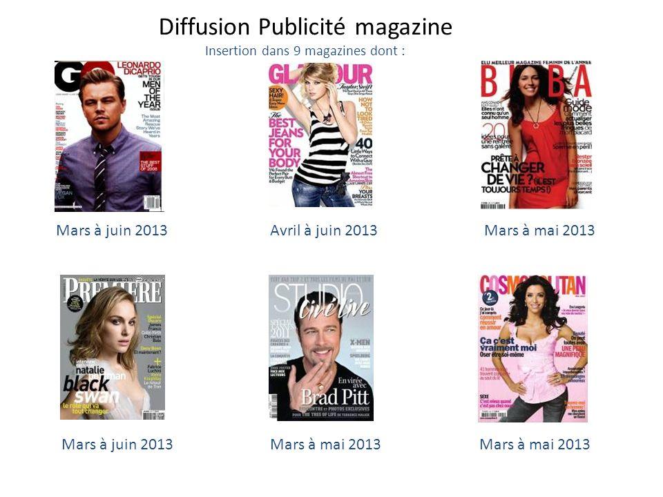 Diffusion Publicité magazine